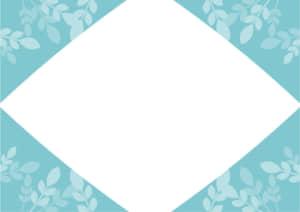 葉っぱ フレーム 水色 イラスト 無料