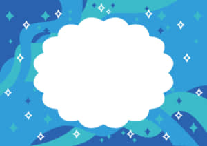 七夕 天の川 青色 フレーム イラスト 無料