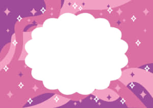 七夕 天の川 ピンク色 フレーム イラスト 無料