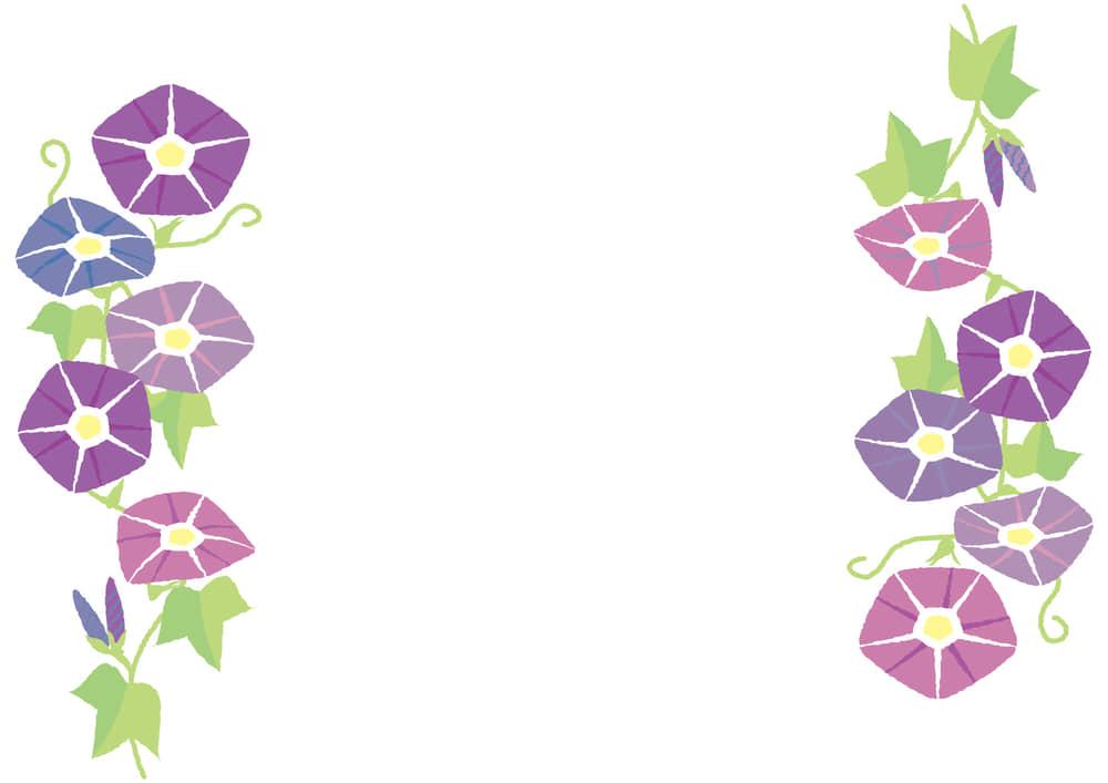 シンプルイラスト無料|朝顔 紫色