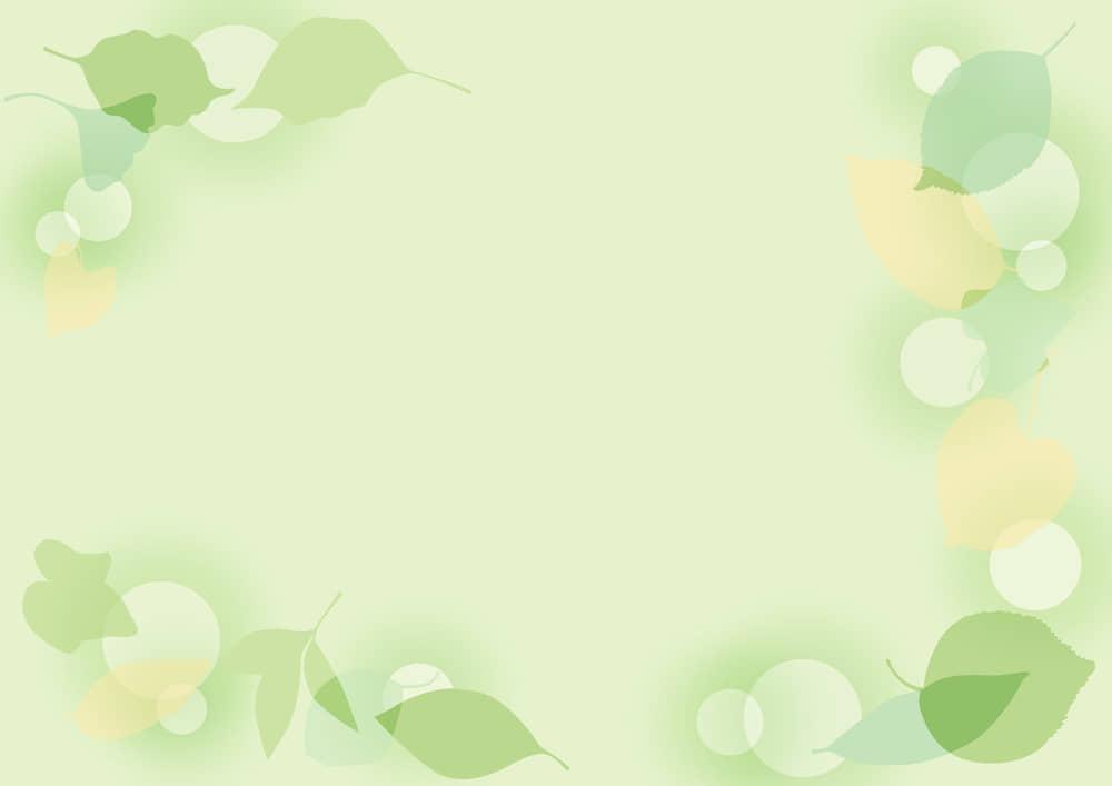 可愛いイラスト無料 背景 葉っぱの背景 緑色