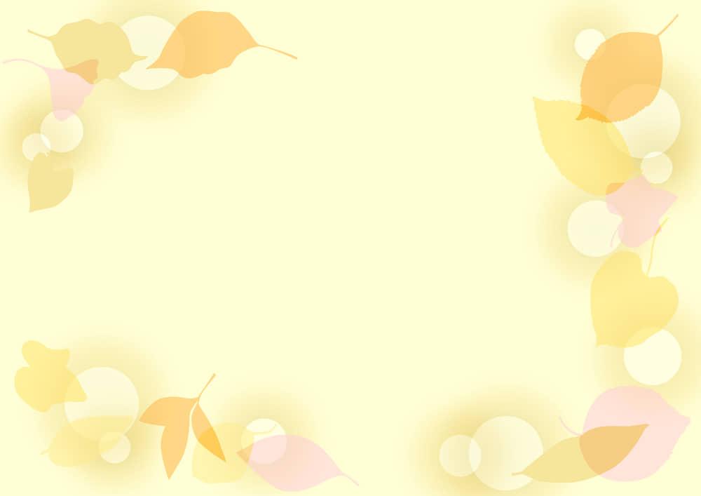 可愛いイラスト無料|背景 葉っぱの背景 黄色