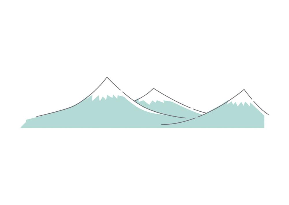 手書きイラスト無料|山脈