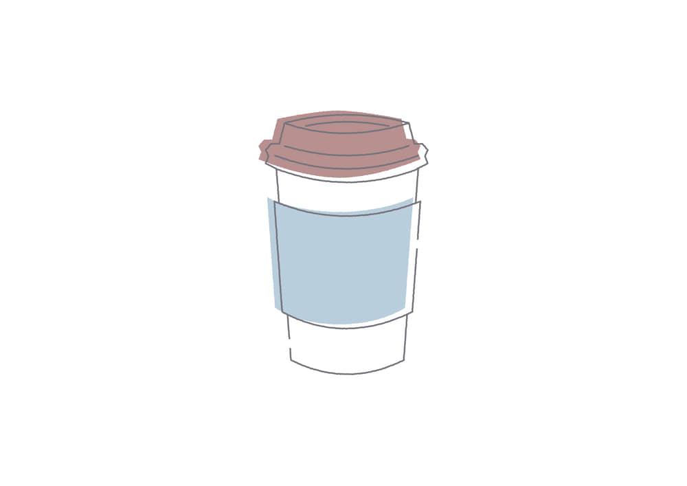 手書きイラスト無料|ドリップコーヒー 紙コップ