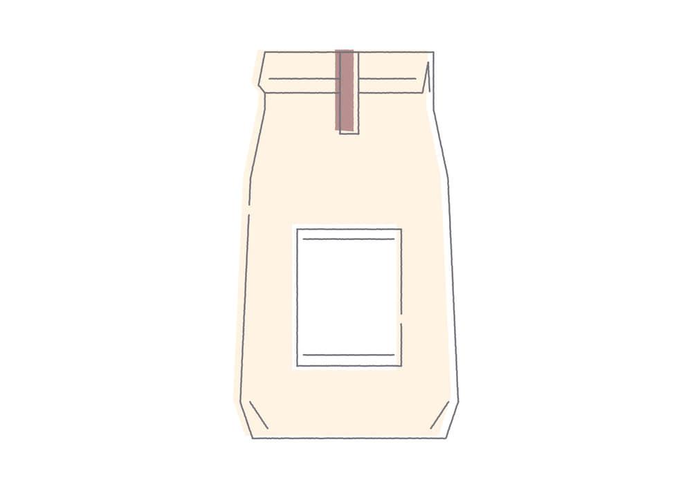 手書きイラスト無料|コーヒー 紙袋