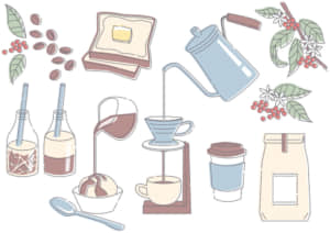 カフェ コーヒー イラスト 無料