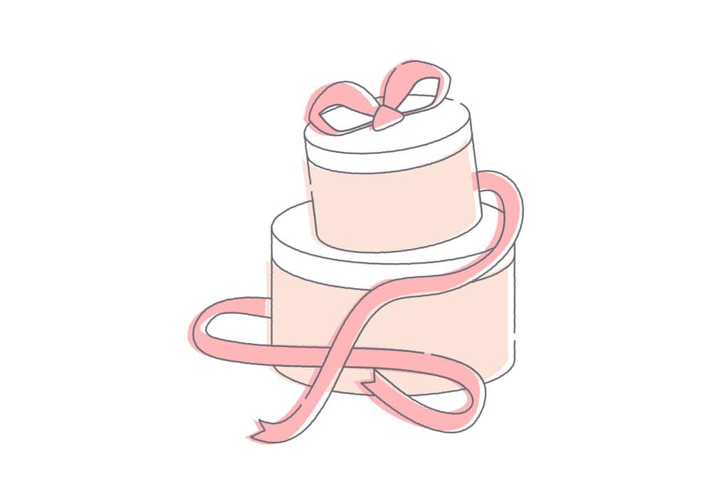 可愛いイラスト無料|プレゼントボックス ピンク色