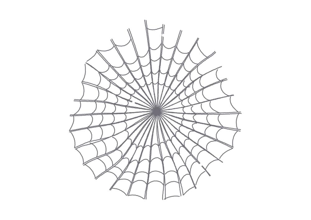 手書きイラスト無料|ハロウィン 蜘蛛の巣
