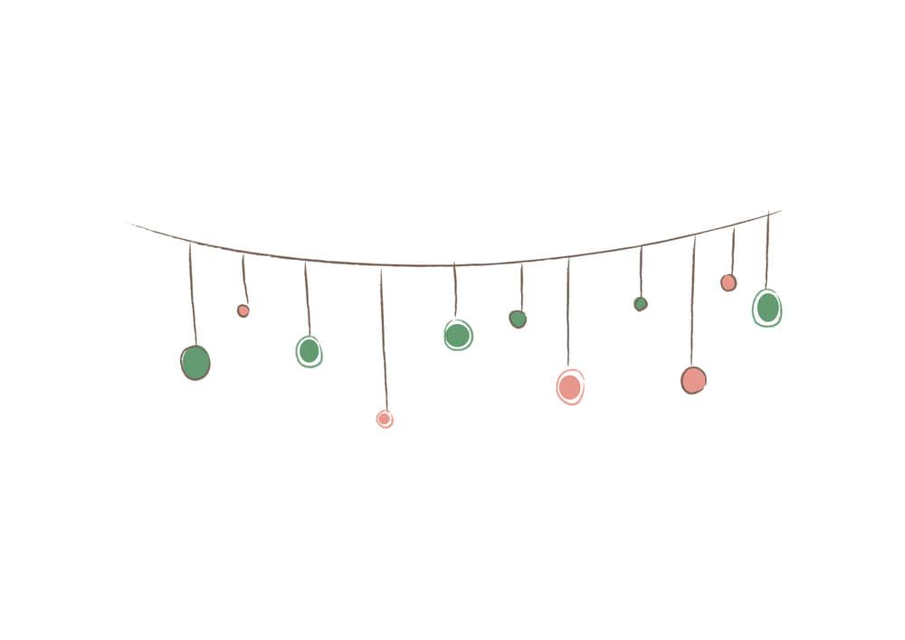 おしゃれなイラスト無料|クリスマス オーナメント 手書き