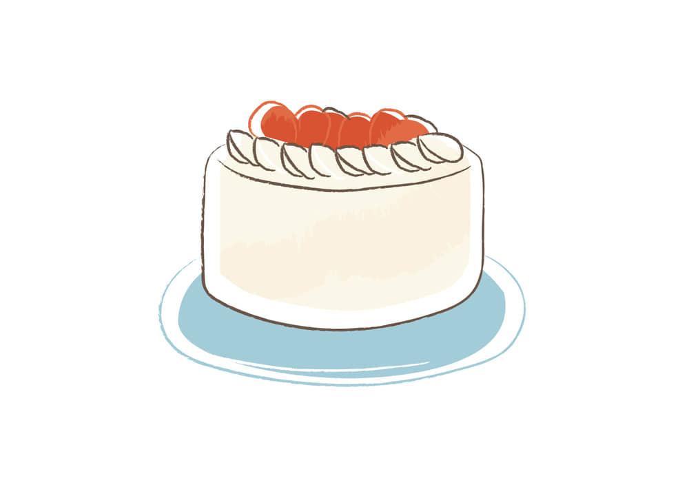 おしゃれなイラスト|クリスマス ホールケーキ