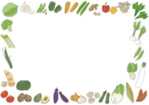 野菜 フレーム イラスト 無料