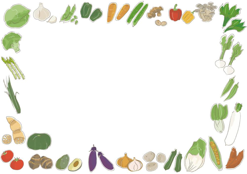 可愛いイラスト無料|野菜 フレーム