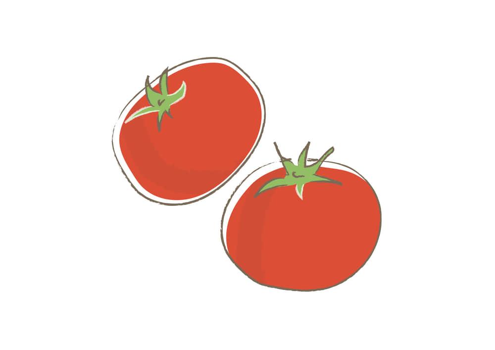 可愛いイラスト無料|野菜 トマト