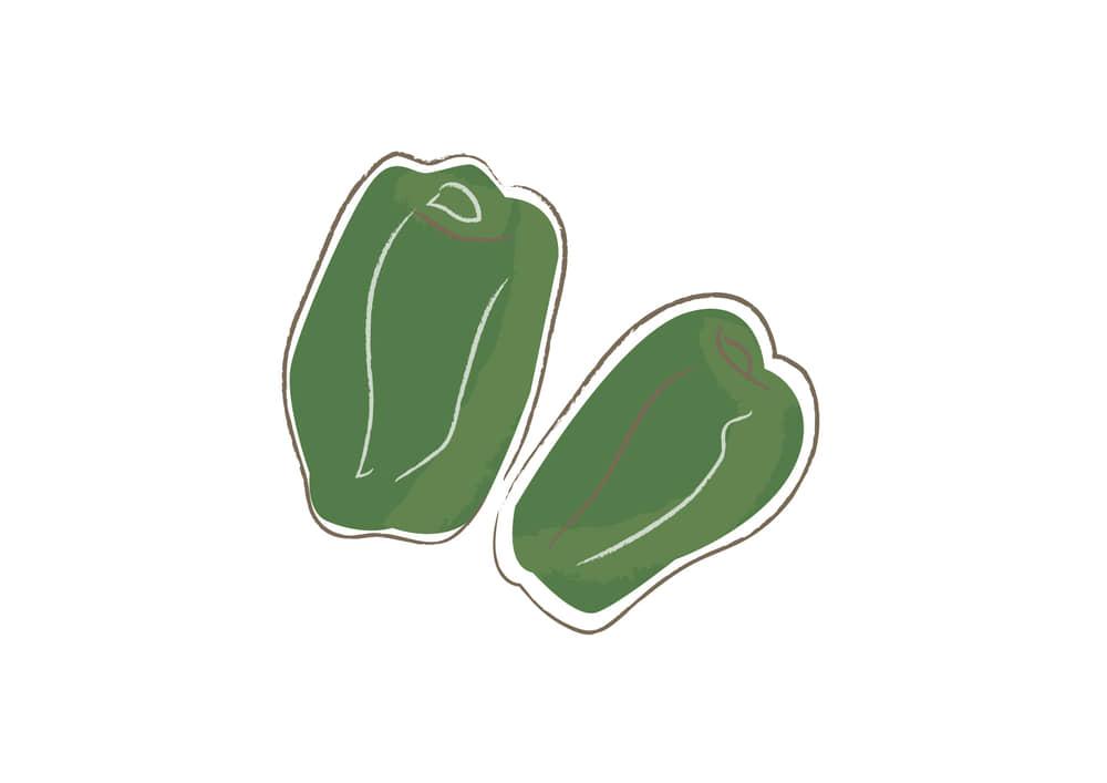 可愛いイラスト無料|野菜 ピーマン