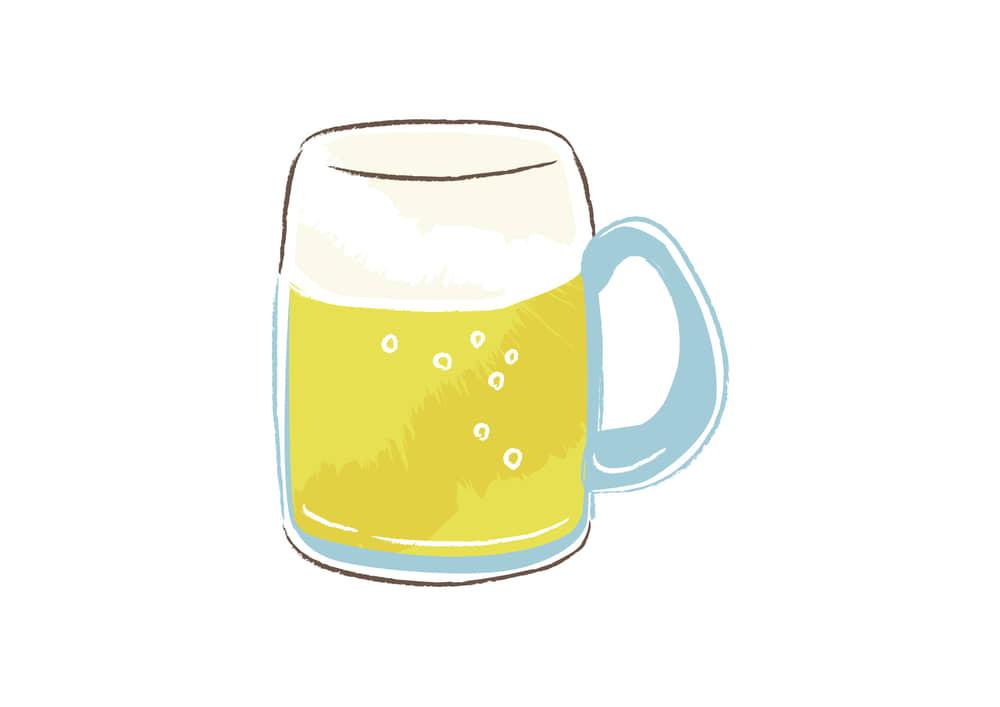 おしゃれなイラスト無料|ビール ジョッキ