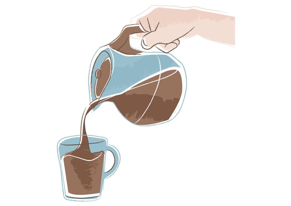 おしゃれなイラスト無料|コーヒーを注ぐ手 おしゃれなイラスト無料|コーヒーサーバー