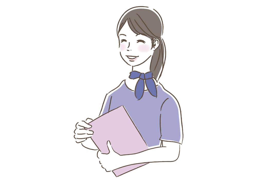 シンプルイラスト無料|ビジネス 女性 ビューティーアドバイザー