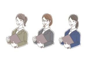 ビジネス 企画書を持つ女性 イラスト 無料