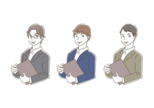 ビジネス 企画書を持つ男性 イラスト 無料