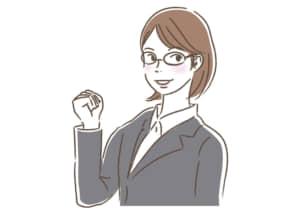 ビジネス 女性2 ガッツポーズ イラスト 無料