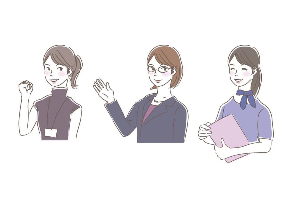 シンプルイラスト無料|ビジネス 女性 オフィスカジュアル