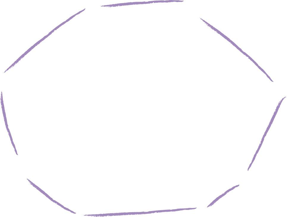 可愛いイラスト|手書き 吹き出し たくさんの直線 紫色