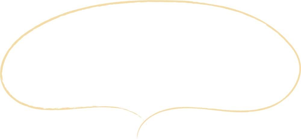 可愛いイラスト|手書き 吹き出し シンプル 黄色