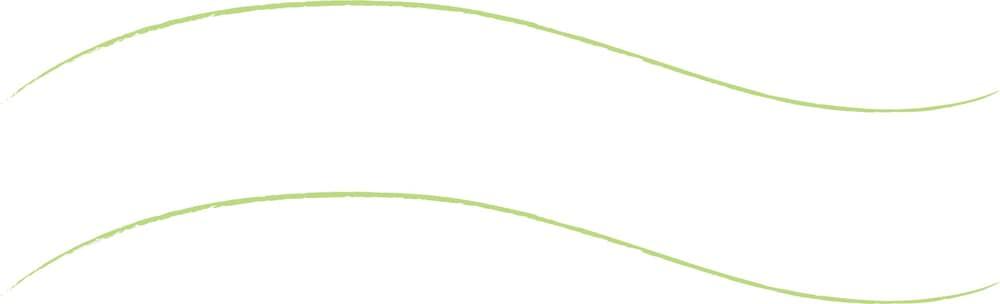 可愛いイラスト無料 手書き 吹き出し ウェーブ 緑色