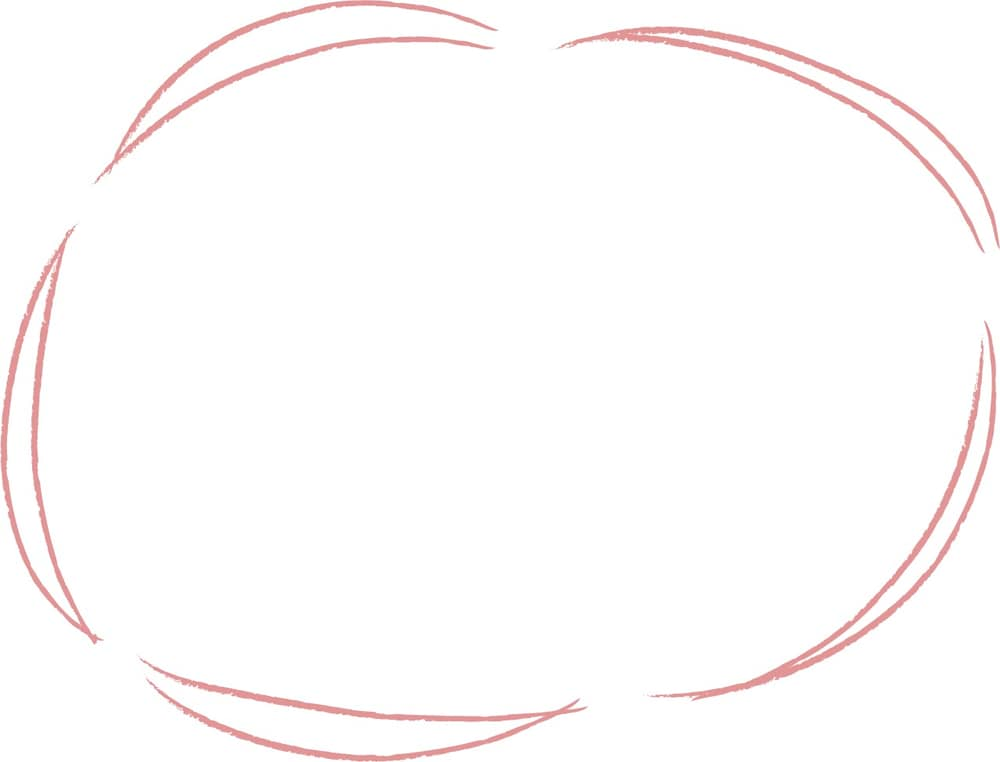 可愛いイラスト無料 手書き 吹き出し 2重線 ピンク色