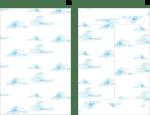 ポチ袋テンプレート無料|手書き 水彩 雲のデザイン