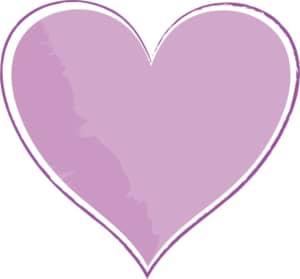 手書き ハート 紫色 イラスト 無料