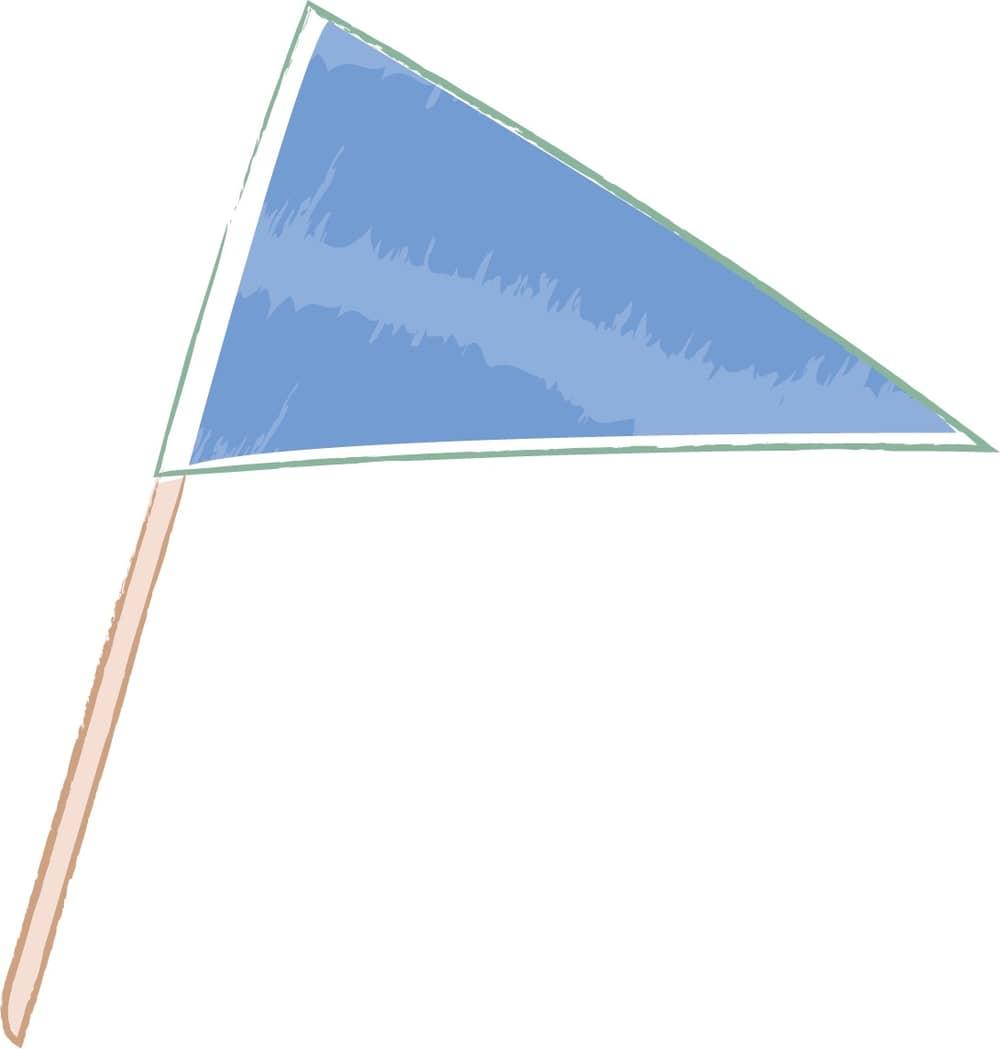 可愛いイラスト無料|手書き 三角フラッグ
