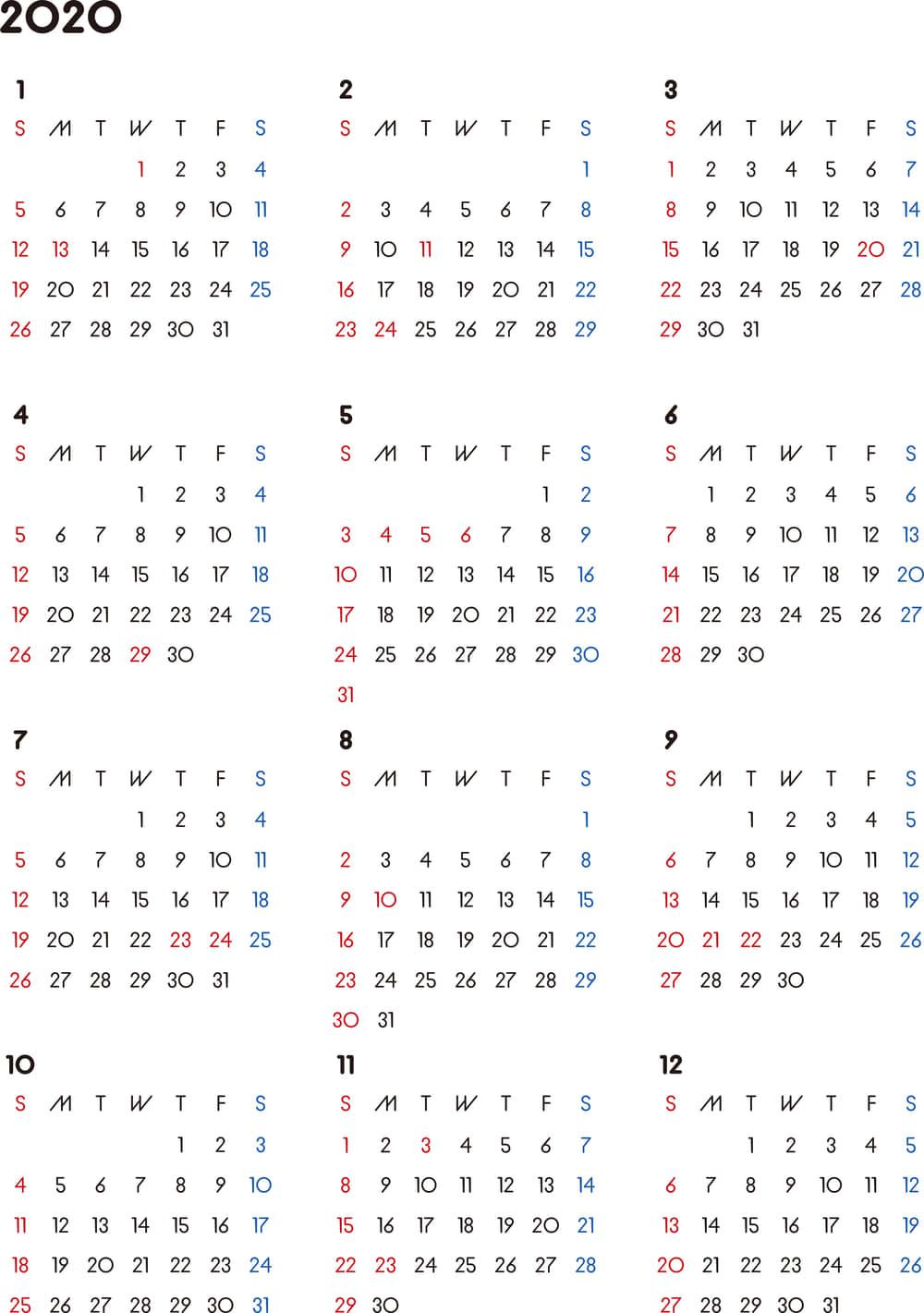 一日のカレンダー 人気 pdf 無料