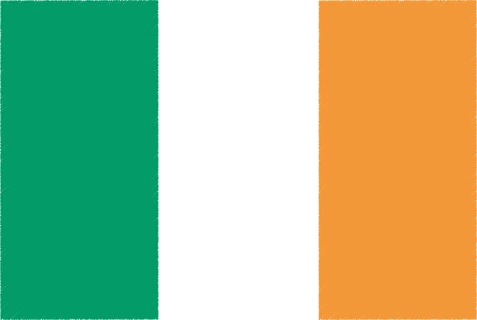 国旗 イラスト 無料|アイルランドの国旗