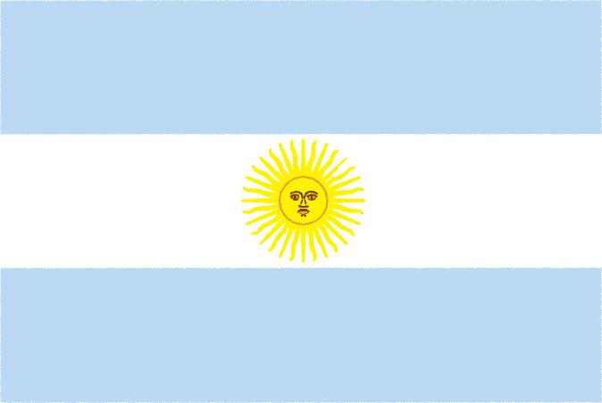 国旗 イラスト 無料|アルゼンチン共和国の国旗