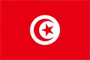 国旗 イラスト 無料|チュニジア共和国の国旗