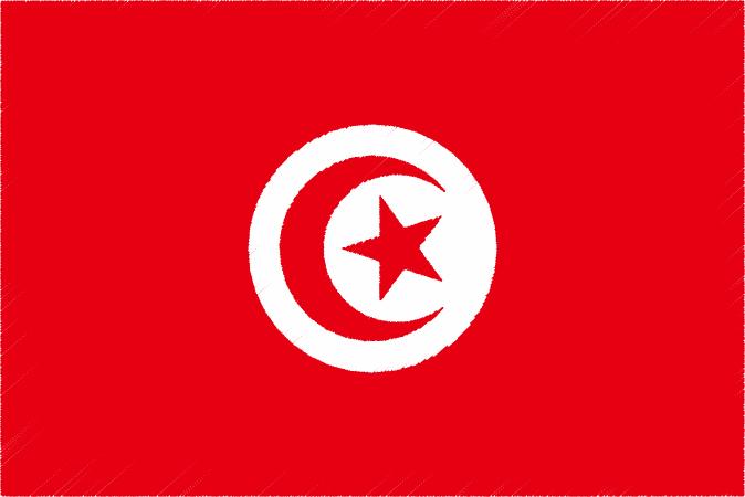 国旗 イラスト 無料 チュニジア共和国の国旗