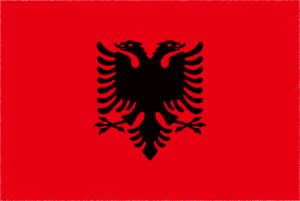 国旗 イラスト 無料|アルバニア共和国の国旗