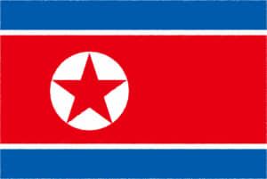 国旗 イラスト 無料|朝鮮民主主義人民共和国の国旗