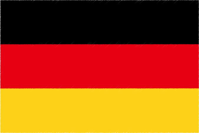 国旗 イラスト 無料|ドイツ連邦共和国の国旗