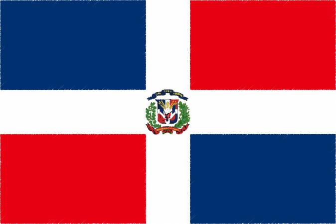 国旗 イラスト 無料|ドミニカ共和国の国旗