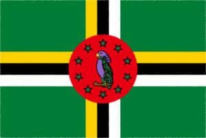 国旗 イラスト 無料|ドミニカ国の国旗