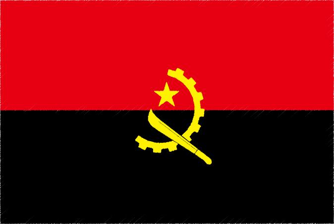 国旗 イラスト 無料 アンゴラ共和国の国旗