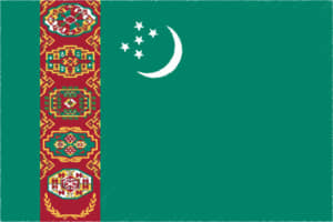 国旗 イラスト 無料|トルクメニスタンの国旗