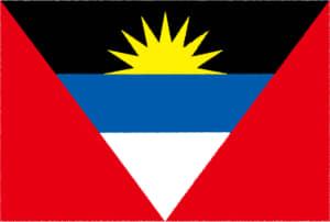 国旗 イラスト 無料|アンティグア・バーブーダの国旗