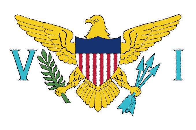 国旗 イラスト 無料|ヴァージン諸島の国旗