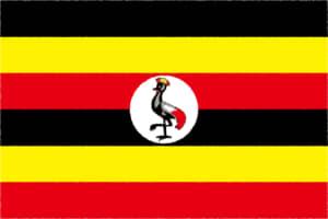 国旗 イラスト 無料|ウガンダ共和国の国旗