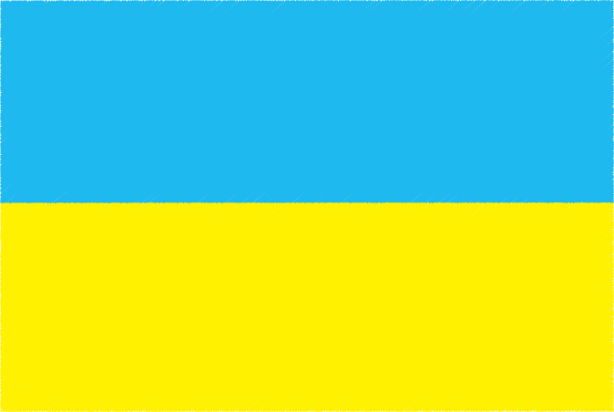 国旗 イラスト 無料|ウクライナの国旗