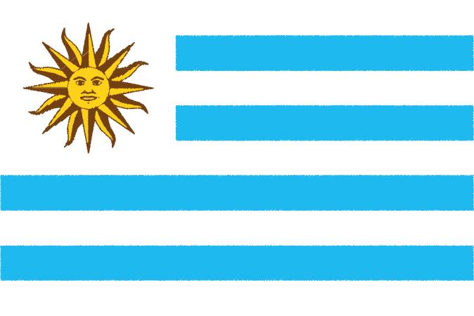 国旗 イラスト 無料|ウルグアイ東方共和国の国旗