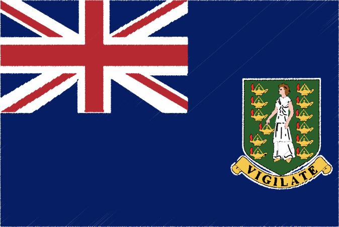 国旗 イラスト 無料|英領ヴァージン諸島の国旗